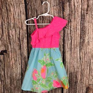 Lilly Pulitzer Pink Lemonade Runa Pool Dress S 4-5